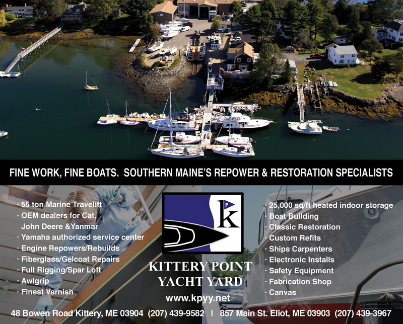 Kittery Point Yacht Yard Advertisement