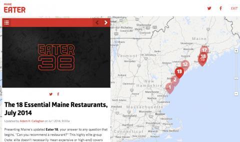 """The 18 Essential Maine Restaurants, July 2014"""