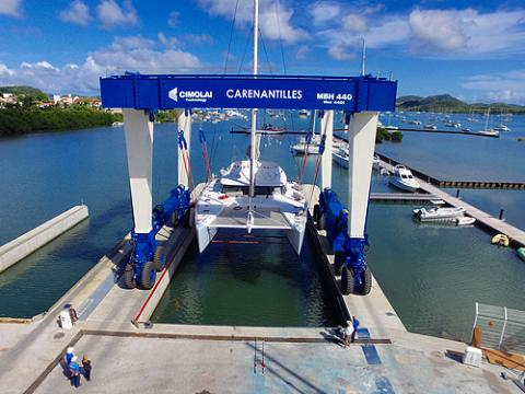 Carenantilles Shipyard, located in the gorgeous bay of Le Marin, Martinique