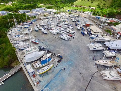 Carenantilles Shipyard, on 6-acres of recently fully coated facility.