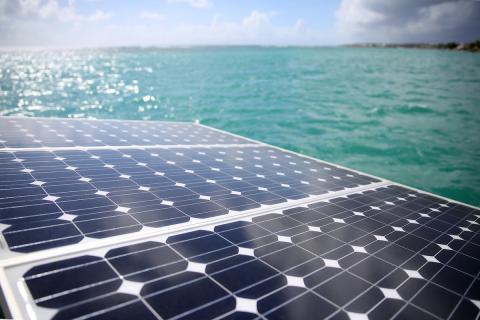 Hybrid yacht solar panels